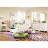 Lea Elite Vintage Boutique Sleigh Bed in Vintage White