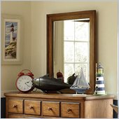 Lea Elite Logan County Vertical Mirror in Burnished Pine