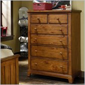 Lea Elite Logan County Drawer Chest in Burnished Pine