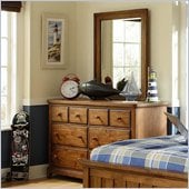 Lea Elite Logan County Dresser in Burnished Pine