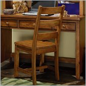 Lea Elite Logan County Chair-KD in Burnished Pine
