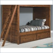 Lea Elite Logan County Dual Function Underbed Storage-KD in Burnished Pine