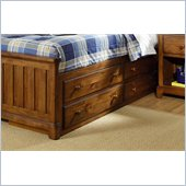 Lea Elite Logan County Captain Bed Box in Burnished Pine