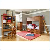 Lea Elite Logan County Bunk Bed in Burnished Pine