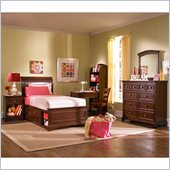 Lea Elite Covington Sleigh Bed in Cherry