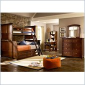 Lea Elite Covington Bunk Bed w/ Storage in Cherry