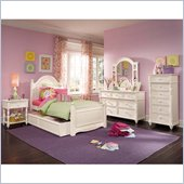 Lea Elite Hannah Panel Bed in White