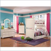 Lea Elite Hannah Twin Bunk Bed in White