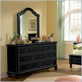Lea Elite Retreat 7 Drawers Dresser in Black
