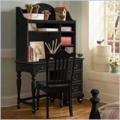 Lea Elite Retreat Desk with Hutch in Black