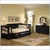 Lea Elite Retreat Sideways Bed in Black with Slats
