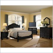 Lea Elite Retreat Panel Bed in Black
