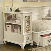 Lea Elite Retreat Bookcase Nightstand in Antique White