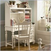 Lea Elite Retreat Desk with Hutch in Antique White