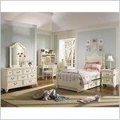 Lea Elite Retreat Panel Bed in Antique White