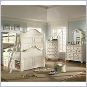 Lea Elite Retreat Bunk Bed with Storage in Antique White