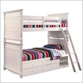 Lea Elite Hannah Bunk Bed with Storage in White