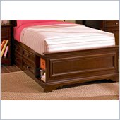 Lea Elite Covington Caption Bed Box with Side Rail  in Cherry