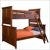 Lea Elite Covington Twin over Full Bunk Bed in Cherry