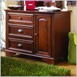 ADD TO YOUR SET: Lea Deer Run Kids 3 Drawer Single Dresser in Brown Cherry Finish