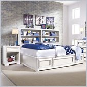 Lea Elite Reflections Kids Bookcase Platform Bed 3 Piece Bedroom Set