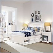 Lea Elite Reflections Kids Bed 3 Piece Bedroom Set in Aspen White