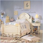 Lea Jessica McClintock Romance Kids Twin Panel Bed 3 Piece Bedroom Set