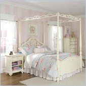 Lea Jessica Mcclintock Romance Canopy Bed 3 Piece Bedroom Set