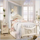 Lea Emma's Treasures Kids Poster Bed 3 Piece Bedroom Set in White