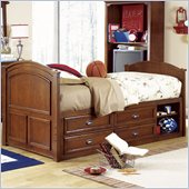 Lea Deer Run Kids Captain's Bed 3 Piece Bedroom Set in Brown Cherry