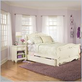 Lea Jessica McLintock Romance Kids Sleigh Bed 3 Piece Bedroom Set