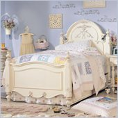 Lea Jessica McClintock Romance Kids Twin Panel Bed in Antique White Finish