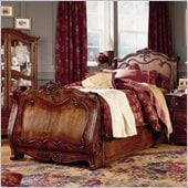 Lea Jessica McClintock Heirloom Kids Sleigh Bed in Dark Cherry