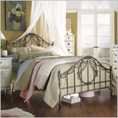 Lea Emma's Treasures Kids Metal Panel Bed in Dark Pewter