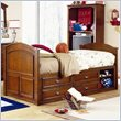 ADD TO YOUR SET: Lea Deer Run Kids Captain's Bed in Brown Cherry Finish