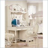 Lea Jessica McClintock Romance 3 Drawer Student Desk Set in Antique White Wood Finish