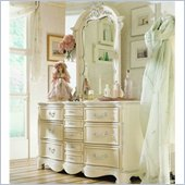 Lea Jessica McClintock Romance Dresser and Mirror Set in Antique White