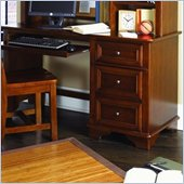 Lea Deer Run 3 Drawer Computer Student Desk in Brown Cherry Finish