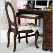 ADD TO YOUR SET: Lea Jessica McClintock Heirloom Upholstered Desk Chair with Cream Fabric and Dark Cherry Wood Finish