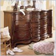 ADD TO YOUR SET: Lea Jessica McClintock Heirloom 10 Drawer Triple Dresser with Dark Cherry Wood Finish