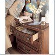ADD TO YOUR SET: Lea Jessica McClintock Heirloom 3 Drawer Nightstand with Dark Cherry Wood Finish