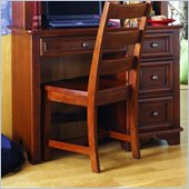 Lea Deer Run Wood Student Desk in Brown Cherry Finish