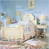 Lea Jessica McClintock Romance Kids Panel Bed 2 Piece Bedroom Set