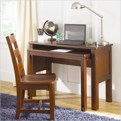 Lea Dillon Kids Student Desk in Distressed Brown Cherry Finish