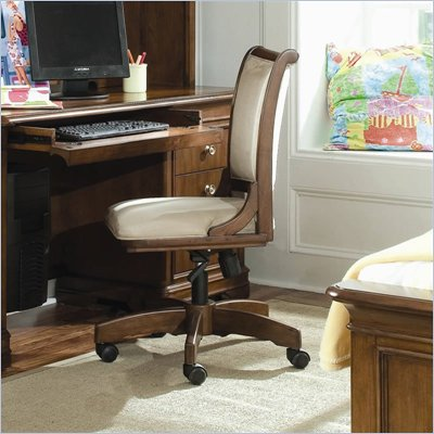 Lea Elite Classics Swivel Desk Chair in Brown Cherry Finish