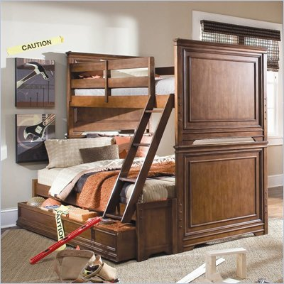 Lea Elite Classics Bunk Bed in Medium Brown Cherry Finish