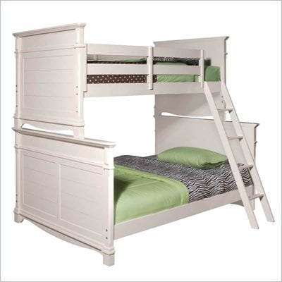 Lea Elite Hannah Twin over Full Bunk Bed in White
