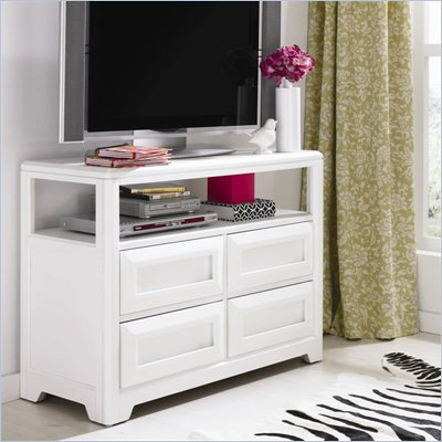 Lea Elite Reflections Kids Media Chest in Aspen White Finish