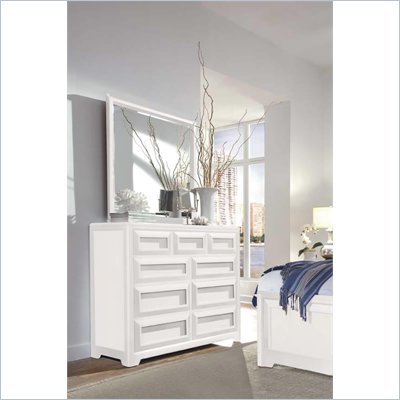 Lea Elite Reflections Kids 9 Drawer Double Dresser and Mirror Set