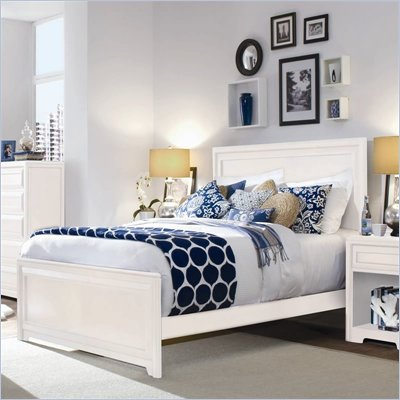 Lea Elite Reflections Kids Panel Bed in Aspen White Finish